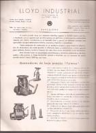 Documento Con Gráficos, Lloyd Industrial De Barcelona - España