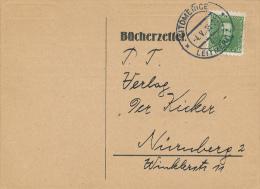 LEITMERITZ - 1935 , Bücherzettel Nach Nürnberg - Storia Postale