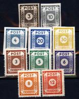 SBZ 51-60 Freimarken Postfrisch - Zone Soviétique