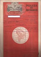 Seguros Sud America, Incendios (rojo) - Documentos Antiguos