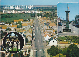 22228 Bruere Allichamp, Vue Aerienne, Borne Miliere Abbaye Noirlac -3cp846403 Cim 18.038 - France