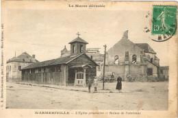 MARNE 51.WARMERIVILLE L EGLISE PROVISOIRE ET  RUINES DE L ANCIENNE - France