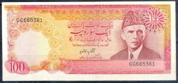 B69-  Pakistan Signature Of Aftab Kazi. Rs 100.00 Banknote. Type- 1. - Pakistan