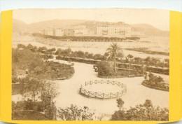 TO-14-022 : Photo Format Carte De Visite Jardin Public Le Pont Neuf Nice Vers  1875 (bords Coupés Au Ciseau) - Orte