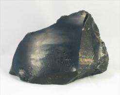Pierre D´obsidienne Noire—330 G—Légères Marbrures—Mexique - Mineralien