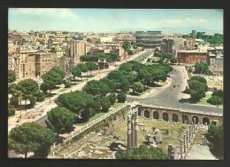 Roma - Città - Via Dei Fori Imperiali - Formato Grande - Viaggiata - Annullo Conferenza Delle Nazioni Unite 1961 - Roma (Rome)