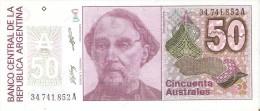 BILLETE DE ARGENTINA DE 50 AUSTRALES DEL AÑO 1986  (BANK NOTE) SIN CIRCULAR-UNCIRCULATED - Argentina
