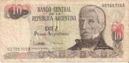 BILLETE DE ARGENTINA DE 10 PESOS GRAL SAN MARTIN DIFERENTES FIRMAS (BANKNOTE) - Argentina
