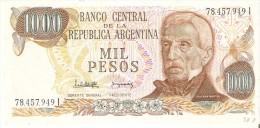 BILLETE DE ARGENTINA DE 1000 PESOS GRAL SAN MARTIN DIFERENTES FIRMAS (BANKNOTE) SIN CIRCULAR-UNCIRCULATED - Argentina