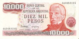 BILLETE DE ARGENTINA DE 10000 PESOS GRAL SAN MARTIN DIFERENTES FIRMAS (BANKNOTE) SIN CIRCULAR-UNCIRCULATED - Argentine