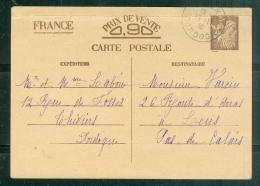 Entier Yvert 654-CP1 - Voyagé En Novembre 1941 - Plis à Déplorer Sur Le Bord Du Haut  Ae11207 - Entiers Postaux