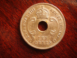 BRITISH EAST AFRICA USED TEN CENT COIN BRONZE Of 1936 - EDWARD VIII. - British Colony