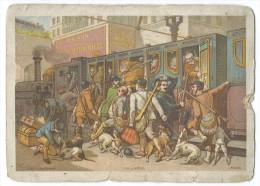 """CHROMO PUBLICITAIRE POUR La """"MAISON De La BELLE JARDINIERE"""" - 2 Rue Du Pont-Neuf - Lith J. Marie - Chromos"""