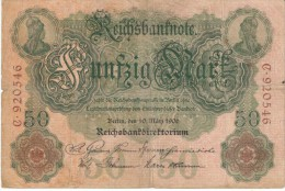 Germany #26a, 50 Marks 1906 Banknote Currency - [ 2] 1871-1918 : Duitse Rijk