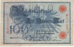 Germany #33a, 100 Marks 1908 Banknote Currency - [ 2] 1871-1918 : Duitse Rijk
