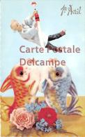CARTE VIERGE Circa 1950 - 1er Avril - Pentecote - Pêcheur & Poissons - Fisherman & Fishes - Pentecôte