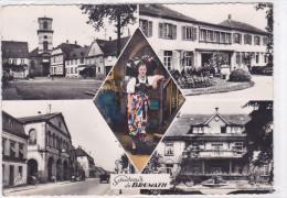 CARD(67) BRUMATH SOUVENIR DE .....VEDUTINE DONNA COSTUME ALSACIENNE HOPITAL CIVIL -FG-V-2- 0882-19336 - Brumath