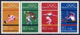 GERMANY 1972 Olympic Games, Munich  Set Of 4  MNH / **.  Michel 734-77 - [7] Federal Republic