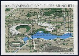 GERMANY 1972 Olympic Games, Munich  Block  MNH / **.  Michel Block 7 - [7] Federal Republic