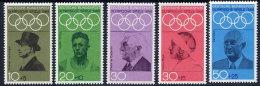 GERMANY 1968 Olympic Games, Munich 1972 Set Of 5  MNH / **.  Michel 561-65 - [7] Federal Republic