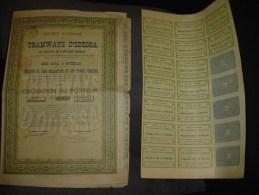 """Obligation Bond """" Tramways D'Odessa """" Bruxelles 1880 Avec Feuille De Coupons. - Chemin De Fer & Tramway"""