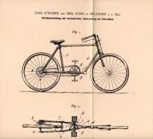 Original Patentschrift - Carl Strüder Und E. Sohn In Betzdorf A.d. Sieg ,1896, Antrieb Für Fahrräder , Fahrrad , Bicycle - Historische Dokumente