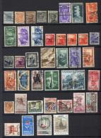Italia Regno Piccolo Insieme  Di 40 Valori Con Annulli Particolari Usati/UsedVF/F - Lotti E Collezioni