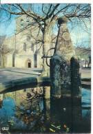 AUBAZINE - L'église Et La Fontaine - Brive La Gaillarde