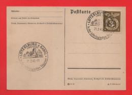 Cachet Illustré LUTZELBURG A KANAL Westm. In Den Lothringischen Vogesen 21.2.43 - Marcophilie (Lettres)