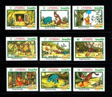 "Anguilla 1982 Sc # 511 / 519  MNH **  Disney ""Winnie The Pooh ""  -  Noel/ Christmas '82 - Disney"
