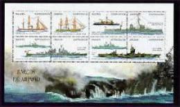 ANGOLA   1090  MINT NEVER HINGED MINI SHEET OF SHIPS  # M - 026-3   ( - Barcos