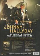 """JOHNNY HALLYDAY """"J'AI TOUT DONNE"""" & """"A LA CIGALE"""" BON DE COMMANDE COMME NEUF PORT OFFERT - Varia"""