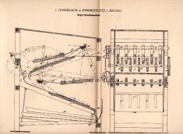 Original Patentschrift -J. Gundelach In Krimmziegelei B. Krusau / Krusa ,1898, Flegel - Dreschmaschine , Agar , Aabenraa - Maschinen