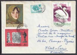 ROUMANIE - 1977 -  LETTRE DE BUCAREST A DESTINATION DE PARIS - - Marcofilia