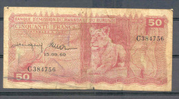 Rwanda-Burundi 50 Fr 1960  Rare  VG / Fine - Otros – Africa