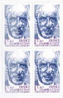 France ** Teilhard De Chardin 1981 Bloc De 4 T - France