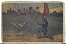 1917. AUSTRIAN OCCUPATION  . STAMPLESS COLOUR  ILLUST. K.u.K  POSTCARD. - ....-1919 Provisional Government