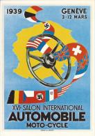 8947 - Genève XVI  Salon International Automobile 1939  (Reproduction D'Affiche) - GE Genève