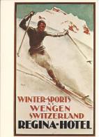 8953 - Wengen Regina-Hotel 1925  (Reproduction D'Affiche) - BE Berne