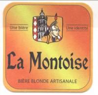 La Montoise. Une Bière. Une Identité. Bière Blonde Artisanale. Beffroi. Saint-Georges. Belfort. Sint-Joris. - Sous-bocks