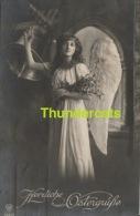 RPPC REAL PHOTO POSTCARD BEAUTIFUL EDWARDIAN GARDIEN ANGEL LADY  ** CPA L'ANGE GARDIEN FEMME - Angels