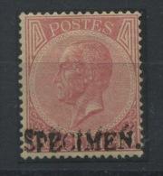 20c SPECIMEN Du 40c Avec Gomme Et Charnière, Moins Cher Que Le Normal. - 1865-1866 Profil Gauche