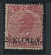 20 SPECIMEN Du 40c Avec Gomme Et Charnière - 1865-1866 Profil Gauche