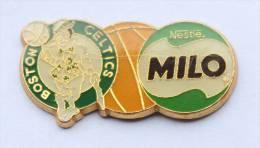 Pin's NESTLE MILO - BOSTON CELTICS - Equipe De Basket De La NBA - D93 - Food