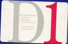 TK A 02/1993 Telekom Funktelefon-Netz D1 O 5€ Abonnement-Karte DD ... 1302 Mobilfunk-System Mobiler Tele-card Of Germany - Duitsland