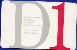 TK A 02/1993 Telekom Funktelefon-Netz D1 O 5€ Abonnement-Karte DD ... 1302 Mobilfunk-System Mobiler Tele-card Of Germany - A + AD-Reeks :  Advertenties Van D. Telekom AG