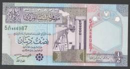 LIBIA (LIBYA) :  1/2 Dinar – P63 - UNC - Libia