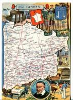 LANDES (40)   - CP Illustrée Du Département - France