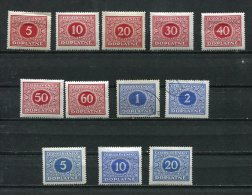 Czechoslovakia 1928 Mi 55-66 Sc J58-69 MNH/MH (2 Stamps Are Used) Doplata - Czechoslovakia