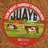 CALVADOS   ETIQUETTE   CAMEMBERT  JUAYE MONDAYE - Fromage